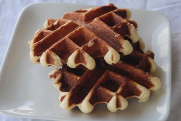Belgian Waffles (Gaufre de Liege) from Zestuous