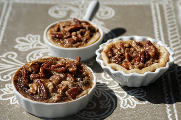 Mini Kentucky Bourbon Chocolate Pecan Pies
