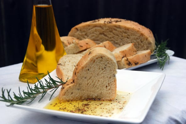 Rosemary Bread and Dip
