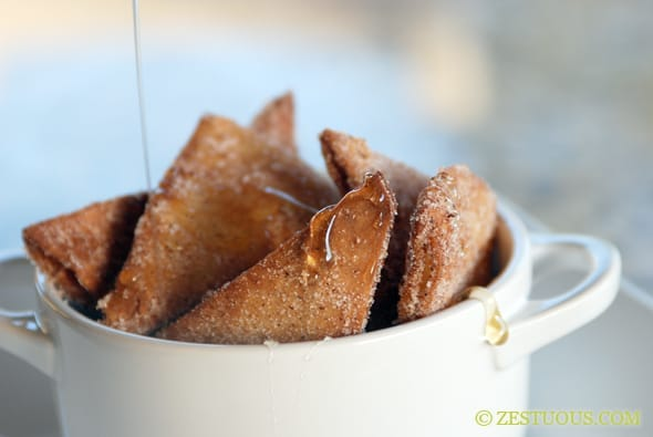 cinnamon crispas with honey