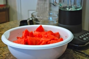 watermelon chunks