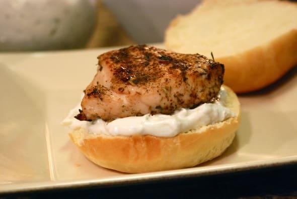 Caribbean Jerk Bleu Cheese Chicken Sandwich from Zestuous