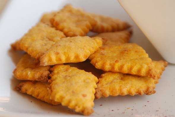 Sweet Potato Cheese Crackers from Zestuous