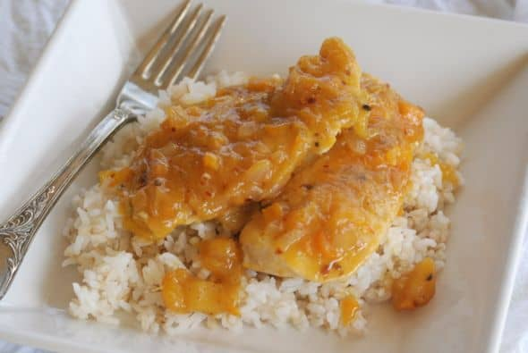 Mango Chutney Chicken from Zestuous