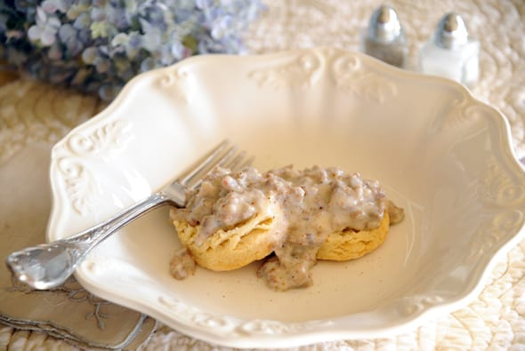 Biscuits and Gravy from Zestuous