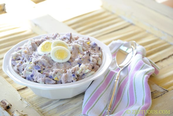 Creamy Purple Potato Salad