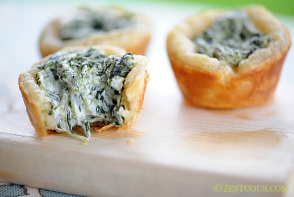 Spinach Cups from Zestuous