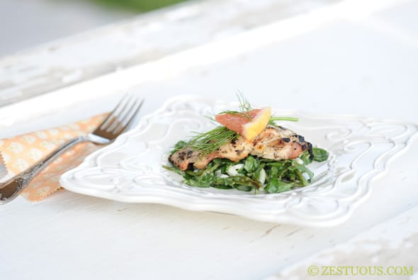 Chicken Thighs with Grapefruit and Fennel from Zestuous