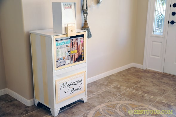 Upcycled Newspaper Bin from Zestuous