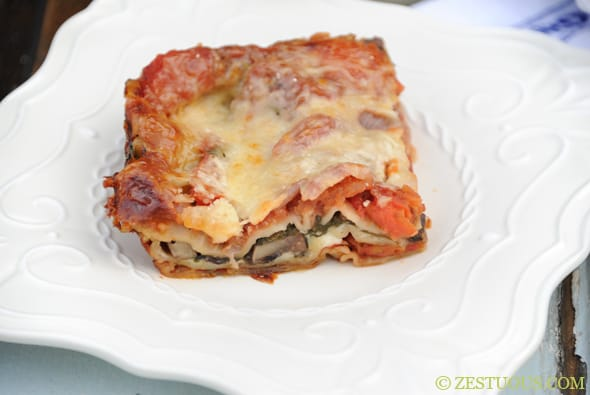 Vegetarian Lasagna from Zestuous
