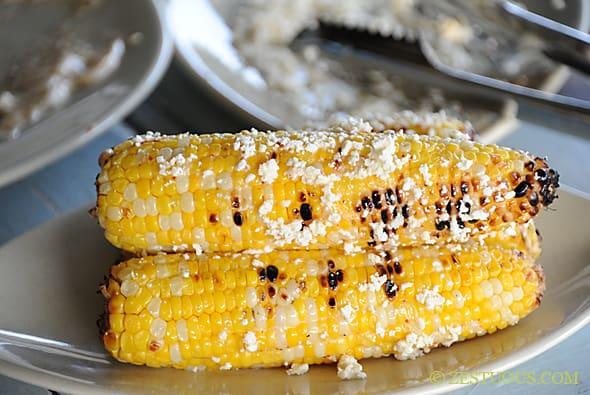 Grilled Tajín Cotija Corn