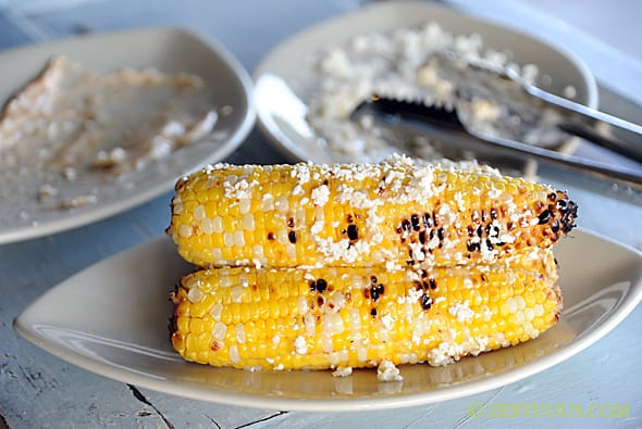 Grilled Tajin Cotija Corn from Zestuous