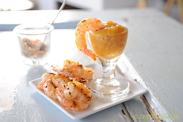 Orange Coconut Shrimp from Zestuous