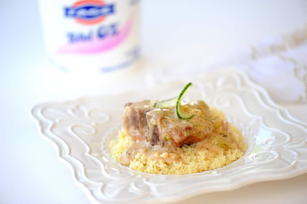 Feta Tzatziki Crock Pot Lamb Chops from Zestuous