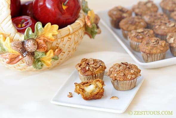 Pumpkin Apple Brie Muffins from Zestuosus