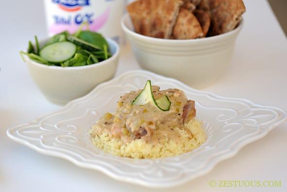 Feta Tzatziki Crock-Pot Lamb Chops