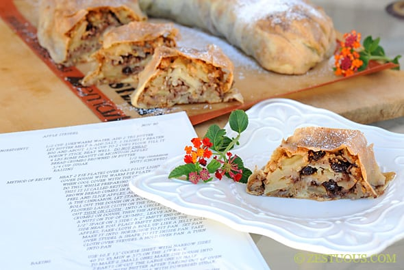 Bohemian Apple Strudel from Zestuous