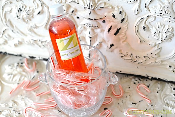 Candy Cane Simple Syrup from Zestuous