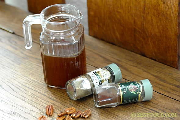 Spiced Pecan Simple Syrup from Zestuous
