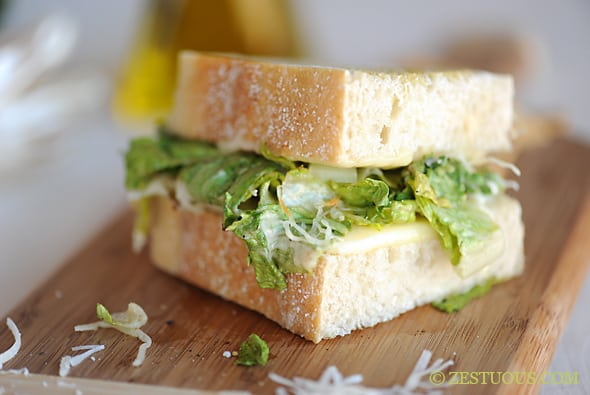 Grilled Caesar Sandwich from Zestuous