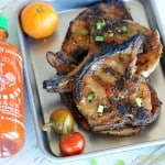 Grilled Orange Sriracha Pork Chops