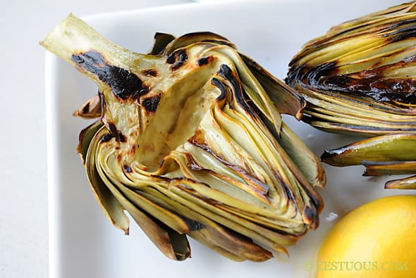 Grilled Artichokes from Zestuous