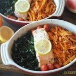Baked Super Foods: Salmon, Kale & Sweet Potatoes from Zestuous