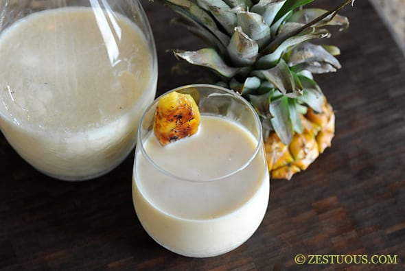 Grilled Pina Colada from Zestuous