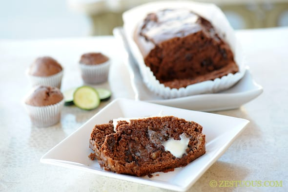 Triple Chocolate Zucchini Bread
