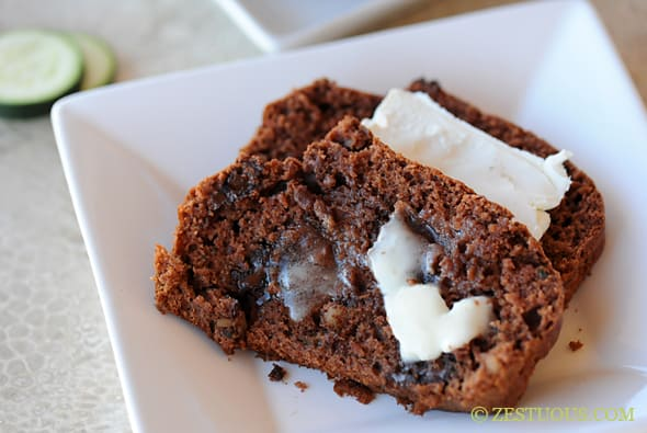 Triple Chocolate Zucchini Bread from Zestuous