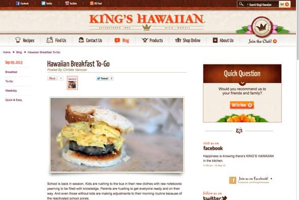 Hawaiian Breakfast To-Go from Zestuous