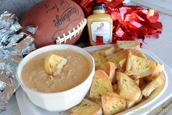 Beer-n-Brat Cheese Dip from Zestuous