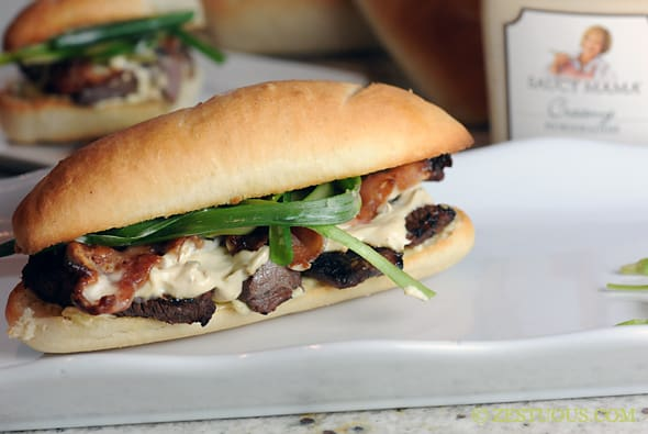 Saucy Mama Steak Sandwich