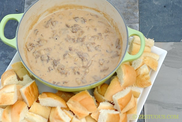 Philly Cheesesteak Dip from Zestuous
