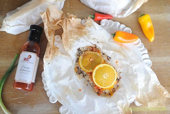 Orange Habanero Fish Filet with Orange Garlic Wild Rice from Zestuous