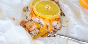 Orange Habanero Fish Filet with Orange Garlic Wild Rice from Zestuous