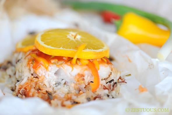 Orange Habanero Fish Filet with Orange Garlic Wild Rice