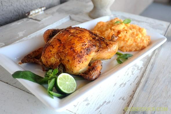 Thai Roasted Chicken from Zestuous