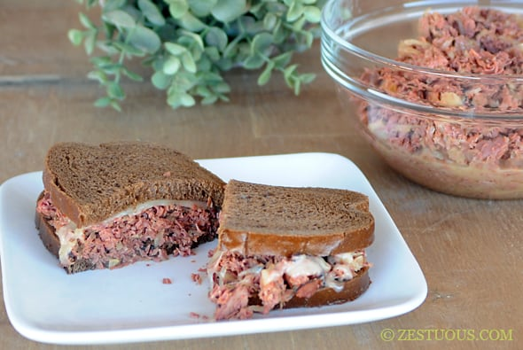 Slow Cooker Reuben Sandwiches from Zestuous