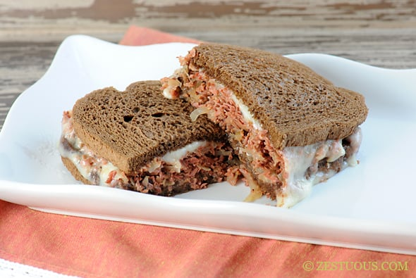 Slow Cooker Reuben Sandwiches from Zestuous