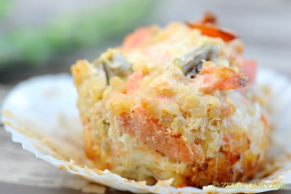 Savory Salmon Quinoa Cheesecakes from Zestuous