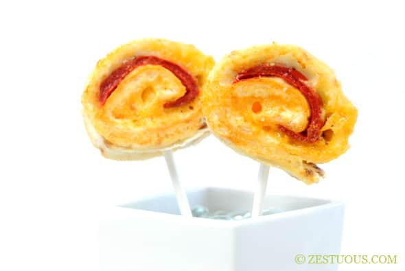 Cheese Lollipops from Zestuous