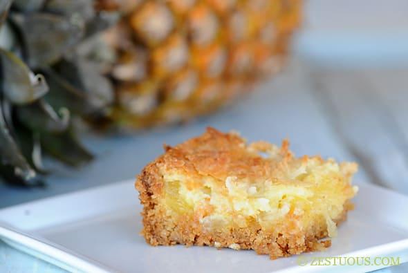Pina Colada Ooey Gooey Cake