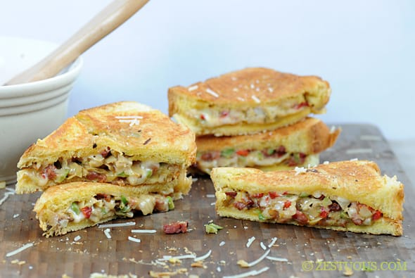 Artichoke and Pancetta Grilled Cheese