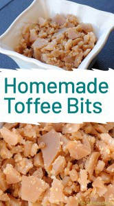 bowl of toffee bits