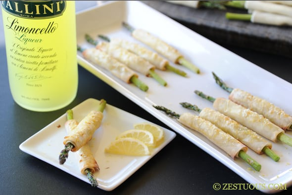 Limoncello Asparagus Spears from Zestuous