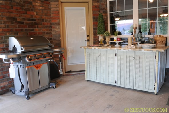 Upcycled Outdoor Kitchen Buffet Table Zestuous