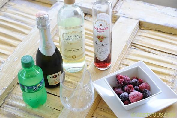 Raspberry Sangria from Zestuous