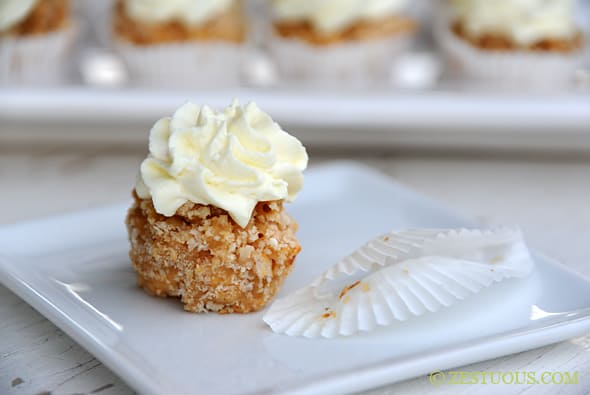 Mac-n-Cheese Cupcakes with Savory Cream Cheese Frosting