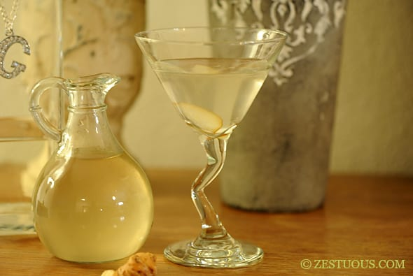 Pear-Ginger Simple Syrup from Zestuous